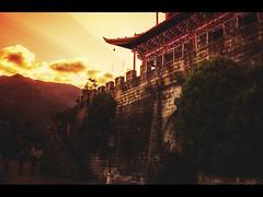 Dali at sunset (Kaj Bjurman) Tags: china sunset red orange dark eos framed 5d yunnan dali hdr kaj mkii markii cs4 photomatix bjurman