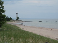 Crisp Point lighthouse (hondasniper) Tags: light lighthouse house beach point paradise michigan trails crisp upnorth whitefishpoint newberry