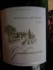2009 Domaine de Guillemarine Picpoul de Pinet