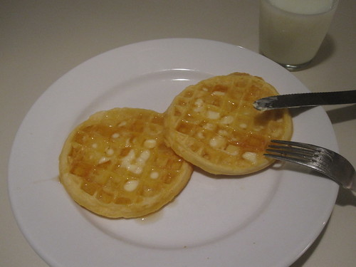 waffles with butter and honey