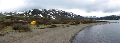 Jotunheimen pano campsite Russvatnet