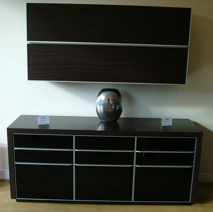 Lula Sideboard wenge and glass