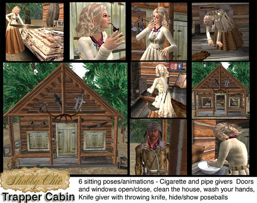Shabby Chic Trappers Cabin - Basic Cabin with lots of extras