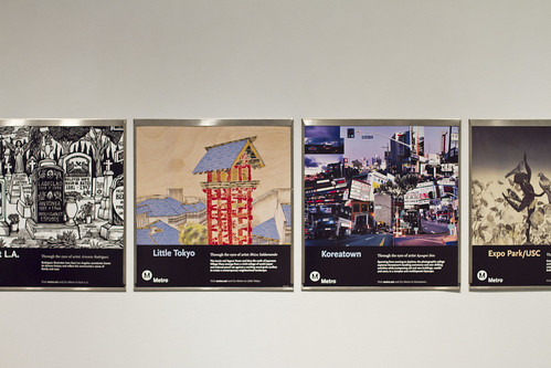 Metro's Neighborhood Poster series displayed at the PMCA gallery.