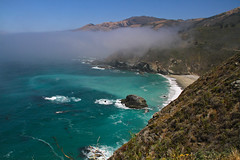 Big Sur, California (J K Johnson) Tags: ocean california blue usa cloud mountains color beautiful rock fog clouds canon coast colorful waves view pacific awesome bigsur roadtrip highway1 7d geology danapoint jimjohnson jkjohnson