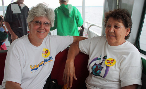 Cathy and Arlene on Mackinac Island ferry