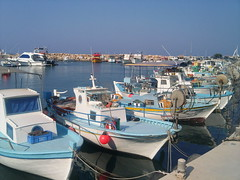 (Rinio) Tags: sea summer reflection beach water marina boats harbour cyprus retreat fishingboats famagusta protaras paralimni rinio