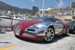Bugatti Veyron Centenaire Edition (Achille Varzi) (Raphal Belly) Tags: red car french photography eos riviera photographie montecarlo monaco belly exotic passion carlo monte raphael edition bugatti achille spotting centenaire supercars veyron 500d chromed varzi
