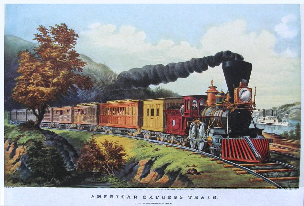 American expressExpressTrain circa 1860s