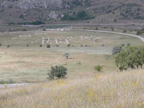 DSCN0955 Hattusas, vue de temples depuis Yerkapi