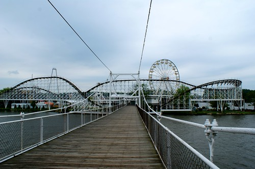 Suspension Bridge Entrance to Indiana Beach