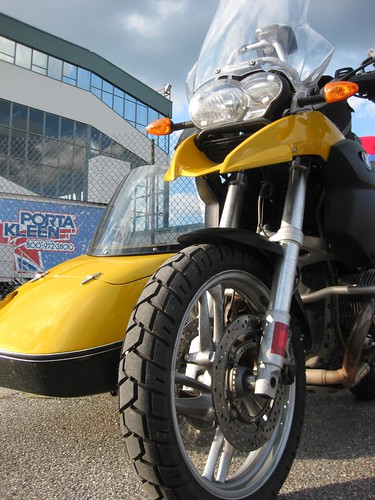 Yellow GS with Sidecar