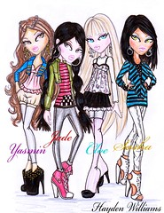 Bratz Fall 2010: 10th Anniversary (Fashion_Luva) Tags: fall fashion dolls williams anniversary 4 illustrations jade hayden sasha 10th yasmin core comeback bratz 2010 cloe mgae