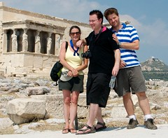 Niki, Eric, Ilias in and the Caryatids