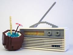 AM Radio and Cocktail (Dave Shaddix) Tags: radio lego coconut gilligan copperfield