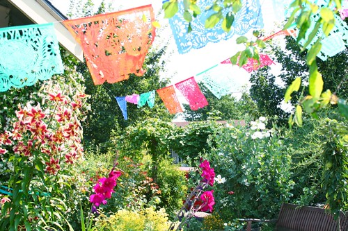 Flags in the garden