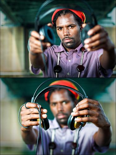 Damu & Headphones Diptych