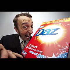 215/365: It cleans deep down dirty, yes?  You want? (Mr. Flibble) Tags: powder 365 sales washing salesman daz smarmy idrinkleadpaint