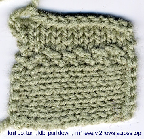 Knitting Stitches Sl1 : do stuff!   Sideways Edge Cast-On, a knitting unvention! plus, Swerve!