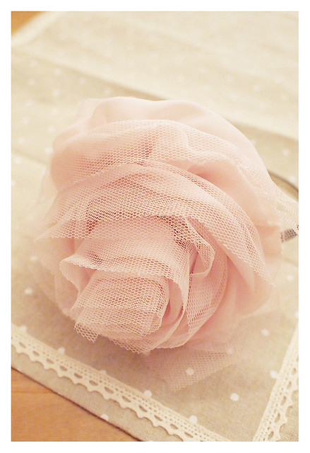 Tulle Flower Headband