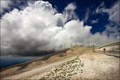 mont ventoux (heavenuphere) Tags: mountain france clouds landscape cycling cyclist view low provence mont 1022mm vaucluse ventoux mountainroad montventoux provencealpescôtedazur