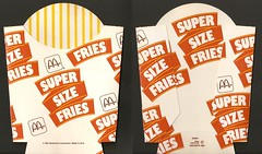 1987 McDonald's Super Size Fries box (daniel85r) Tags: mcdonalds 80s vintagepackaging