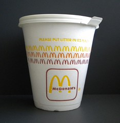 1980s McDonald's styrofoam coffee cup (daniel85r) Tags: mcdonalds 80s vintagepackaging