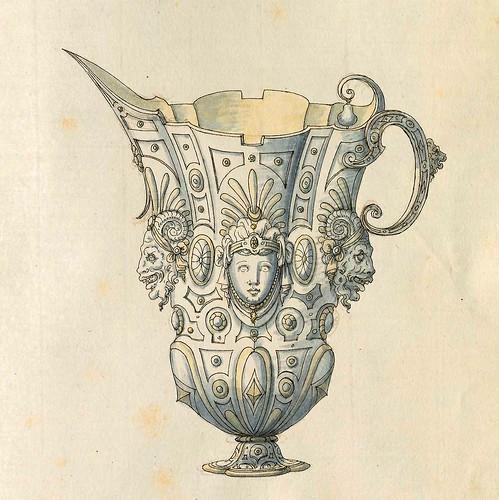 018-Jarra escanciadora de liquidos-Entwürfe für Prunkgefäße in Silber mit Gold-BSB Cod.icon.  199 -1560–1565- Erasmus Hornick