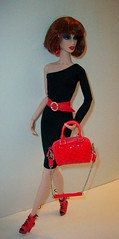 Walk  this  way ..... (napudollworld) Tags: red black fashion barbie mini clone aphrodisiac androgyny royalty basic