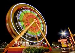 Space Loop (SiriusScrilla) Tags: longexposure carnival night canon colorful fair lighttrails 1022 canonefs1022