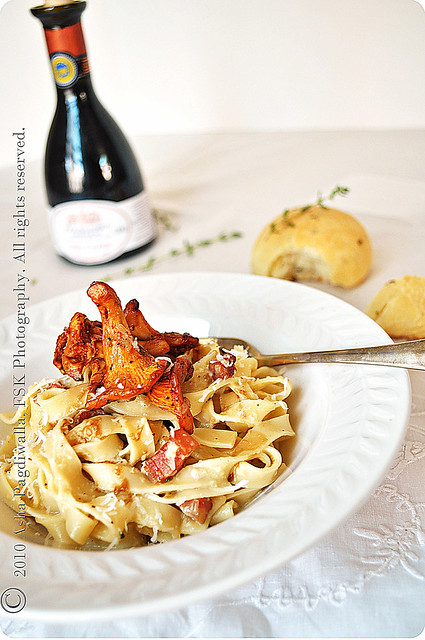 Chanterelle Mushrooms with Pasta Carbonara copy1