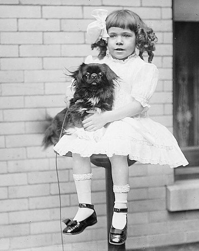 dog and girl