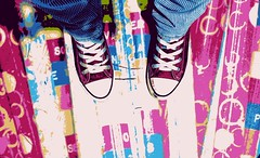 Another one (Cakita_) Tags: pink color feet girl cores foot teen converse teenager pés allstar colorido