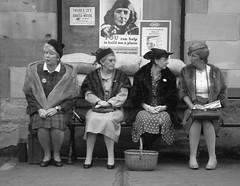 Pickering Wartime Weekend (woodytyke) Tags: ladies england woman white black english feet stockings fashion sign lady vintage bag fur clothing women shoes war dress legs britain yorkshire platform railway skirt smoking clothes railwaystation 1940s british shawl handbag nylon northyorkshire reenactor reenactors nylons wartime pickering nymr northyorkshiremoorsrailway vintageclothing northyorksmoorsrailway womwen wartimeweekend woodytyke