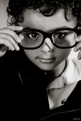 65, 365 (Mia ) Tags: portrait white black cute classic canon glasses kid infant child saudi arabia khalid manal 400d