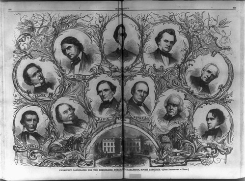 Democratic front-runners for the 1860 nomination