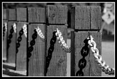 Chain (veryvinita) Tags: wood shadow blackandwhite bw game metal chain repetition pinnacle bigmomma thechallengefactory ultimategrind thepinnaclehof storybookwinner tphofweek64