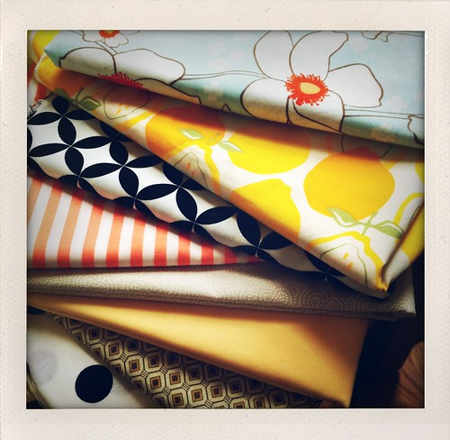 some of my fabric for this week's Home Ec projects :)