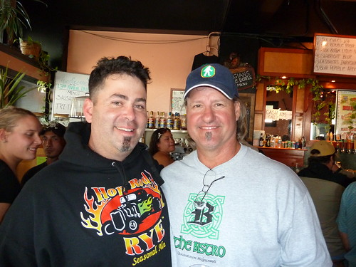 Rich Norgrove, from Bear Republic, and Vic Krajl, co-owner of the Bistro