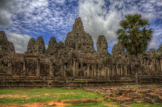 Angkor temple in HDR