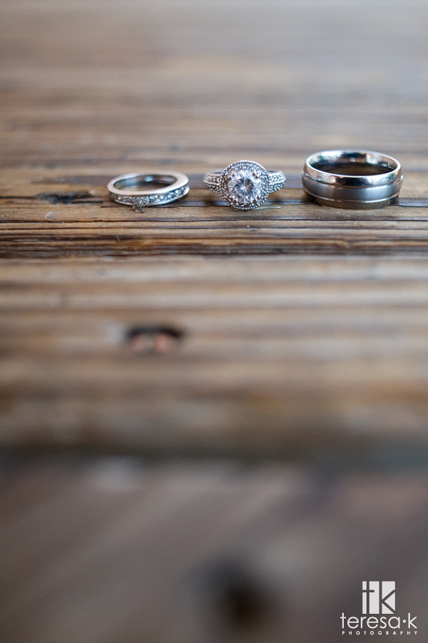 Beautiful wedding rings from a Folsom wedding