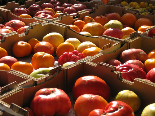 Heirloom Tomatoes at the Riperia Farm booth