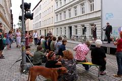KultiWIRung: Kunstauktion mit Lars Johansen und Sophie. Mein Bild wird an Manja versteigert. FREU!
