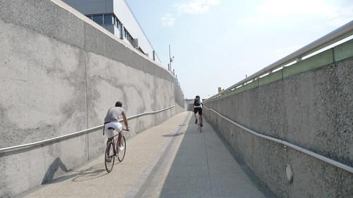 Biking the water treatment center