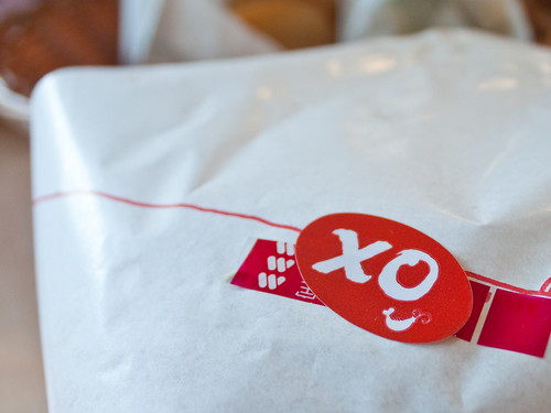'XO + shrimp' sticker