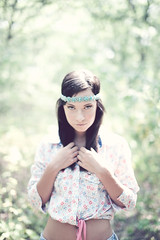 (DANIELLEROCKSPHOTOGRAPHY) Tags: portrait girl forest vintage 50mm model woods f14 ashley 70s hippie brunette mayhem modelmayhem canon5dmarkii