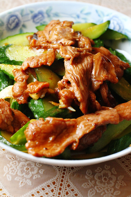 Stir Fried Beef & Cucumber