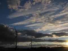 Turbines sky (ewjz31) Tags: uk sky clouds evening turbines nwn countydurham craghead wagtaillane