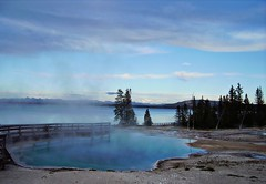 Yellowstone national park west thumb (norvegia2005sara) Tags: park trip travel vacation usa west water america spring united national thumb yellowstone states wyoming geyser westthumb 2010 norvegiasara usa2010 gettyvacation2010