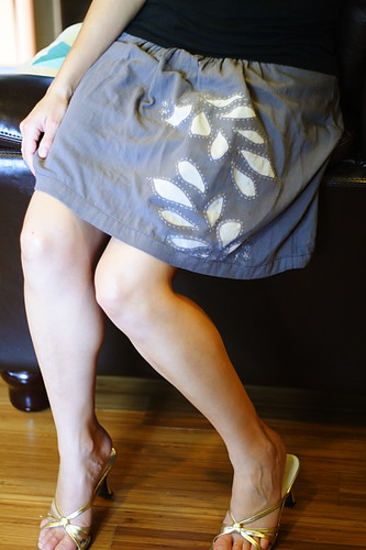 Bloomers Stencil Skirt